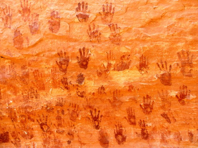 Anazazi handprints