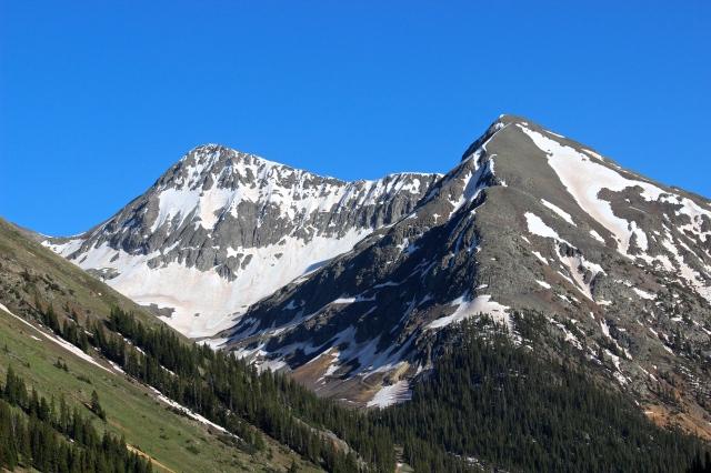 Niagara Peak and unnamed peak 13,419